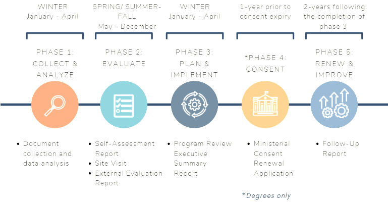 Program Review Timeline Graphic